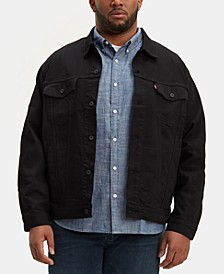 Men's Big & Tall Stretch Denim Trucker Jacket