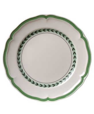 French Garden Green Lines Salad Plate