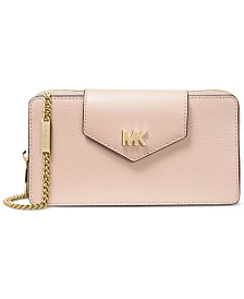 MICHAEL Michael Kors Crossgrain Leather Phone Crossbody