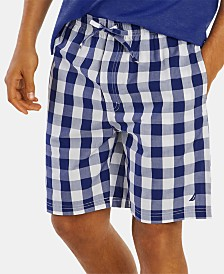 Nautica Men's Cotton Woven Plaid Pajama Shorts