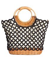 c9a8ca47d032 I.N.C. Crochet Multi Circles Crossbody