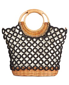 I.N.C. Crochet Multi Circles Crossbody, Created for Macy's