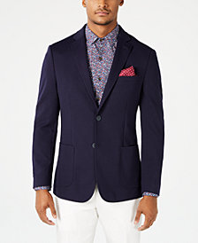 Bar III Men's Slim-Fit Stretch Navy Knit Sport Coat, Created for Macy's