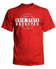 J America Men's Big & Tall Ohio State Buckeyes Basketball Shadow T-Shirt