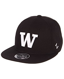 Washington Huskies M15 Black & White Fitted Cap
