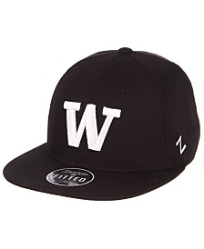 Zephyr Washington Huskies M15 Black & White Fitted Cap