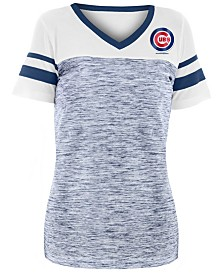 5th & Ocean Women's Chicago Cubs Space Dye Back T-Shirt