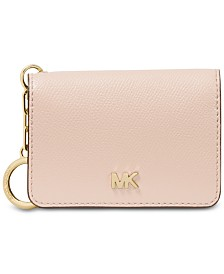 MICHAEL Michael Kors Crossgrain Leather Key Ring Card Holder