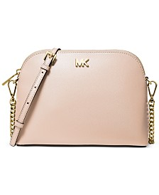 MICHAEL Michael Kors Crossgrain Leather Dome Crossbody