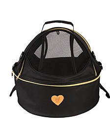 Pet Life 'Air-Venture' Dual Zip Airline Approved Panoramic Pet Dog Carrier