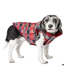 Pet Life 'Scotty' Tartan Classical Plaided Insulated Dog Coat Jacket
