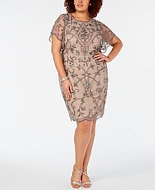 Plus Size Hand-Beaded Dress