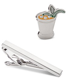 Novel Idea Men's Mint Julep Lapel Pin & Tie Bar Set, Created by Macy's