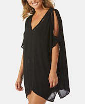 7be5a50962fe4 Raisins Samba Cold-Shoulder Caftan Cover-Up Dress