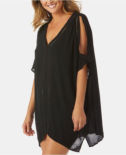 Raisins Samba Cold-Shoulder Caftan Cover-Up Dress