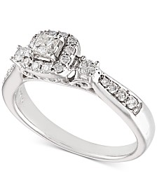 Diamond Engagement Ring (1/2 ct. t.w.) in 14k White Gold