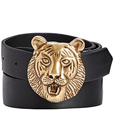 INC Men's Lion Buckle Belt, Created for Macy's