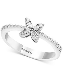 EFFY® Diamond Butterfly Ring (1/4 ct. t.w.) in 14k White Gold