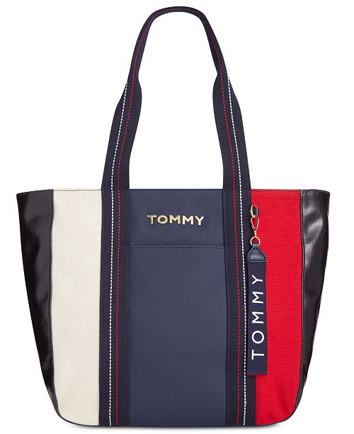 20bd40181 Tommy Hilfiger Akela Canvas Mix Tote & Reviews - Handbags ...
