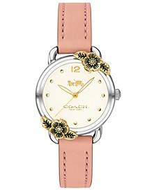 Women's Delancey Tea Rose Blush Leather Strap Watch 28mm