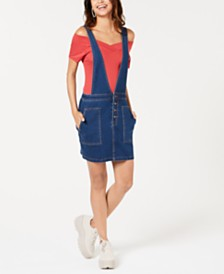 Tinseltown Juniors' Denim Jumper Skirtall