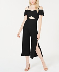 GUESS Jalen Sweetheart Cropped Jumpsuit