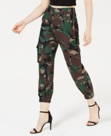 GUESS Vanessa Cotton Eyelet Cargo Pants