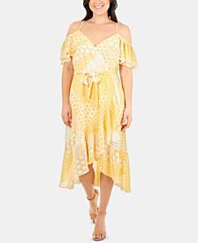 Ruffled Cold-Shoulder Dress