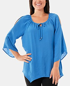 Split-Sleeve Peasant Top