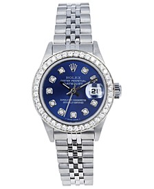 Women's Jubilee with Blue Diamond Dial and Diamond Bezel, 26mm