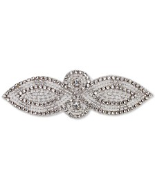 Deepa Silver-Tone Crystal & Imitation Pearl Beaded Hair Barrette