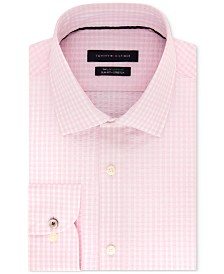 Tommy Hilfiger Men's Slim-Fit TH Flex Non-Iron Supima Stretch Seersucker Check Dress Shirt