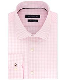 Tommy Hilfiger Men's Slim-Fit TH Flex Non-Iron Supima Stretch Seersucker Check Dress Shirt