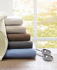 Knit Micro-Fleece Heated Blankets