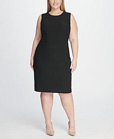 Tommy Hilfiger Plus Size Tidal Knit Sheath Dress