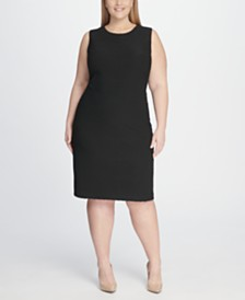 Tommy Hilfiger Plus Size Tidal Knit Sheath Dress