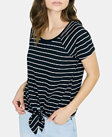 Sanctuary Lou Striped Tie-Hem T-Shirt