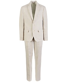 Lauren Ralph Lauren Big Boys Classic-Fit Light Beige Linen Suit Separates