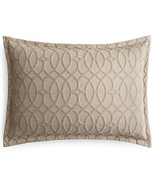 Hotel Collection Interlock Cotton King Sham, Created for Macy's