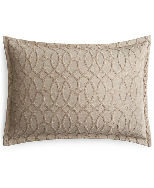 Hotel Collection CLOSEOUT! Interlock Cotton Standard Sham, Created for Macy's