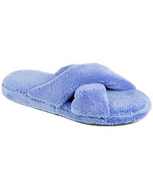 Isotoner Women's Microterry Melissa X Slide Slippers, Online Only