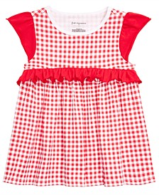 Baby Girls Gingham-Print Top, Created for Macy's