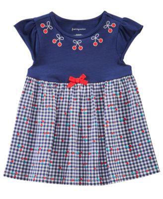 Baby Girls Gingham & Cherry Tunic, Created for Macy's