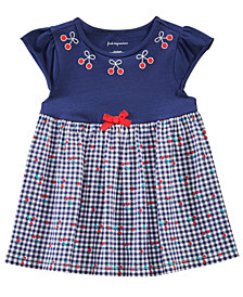 First Impressions Toddler Girls Cherry-Print Gingham Tunic, Created for Macy's