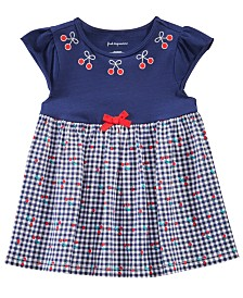 First Impressions Baby Girls Gingham & Cherry Tunic, Created for Macy's