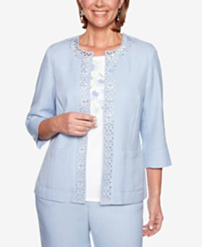 Alfred Dunner Southampton Open-Front Blazer