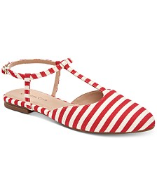 Charter Club Ellory T-Strap Flats, Created for Macy's