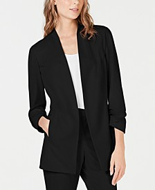 Ruched-Sleeve Blazer, Created for Macy's