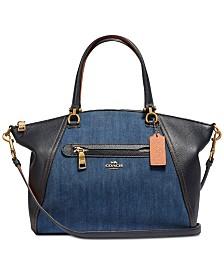 c4c7a2a34db COACH Denim Taylor Tote   Reviews - Handbags   Accessories - Macy s