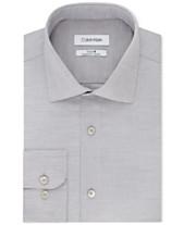 74a148e70c82 Calvin Klein Men s STEEL Classic Regular Fit Non-Iron Performance Stretch  Fineline Dress Shirt